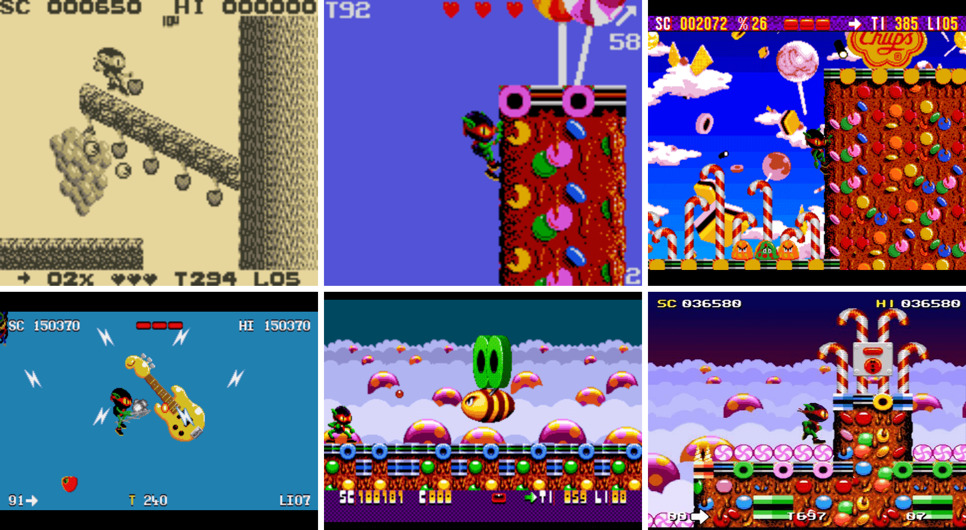 Game Boy   Game Gear   Amiga PC   Megadrive   SNES