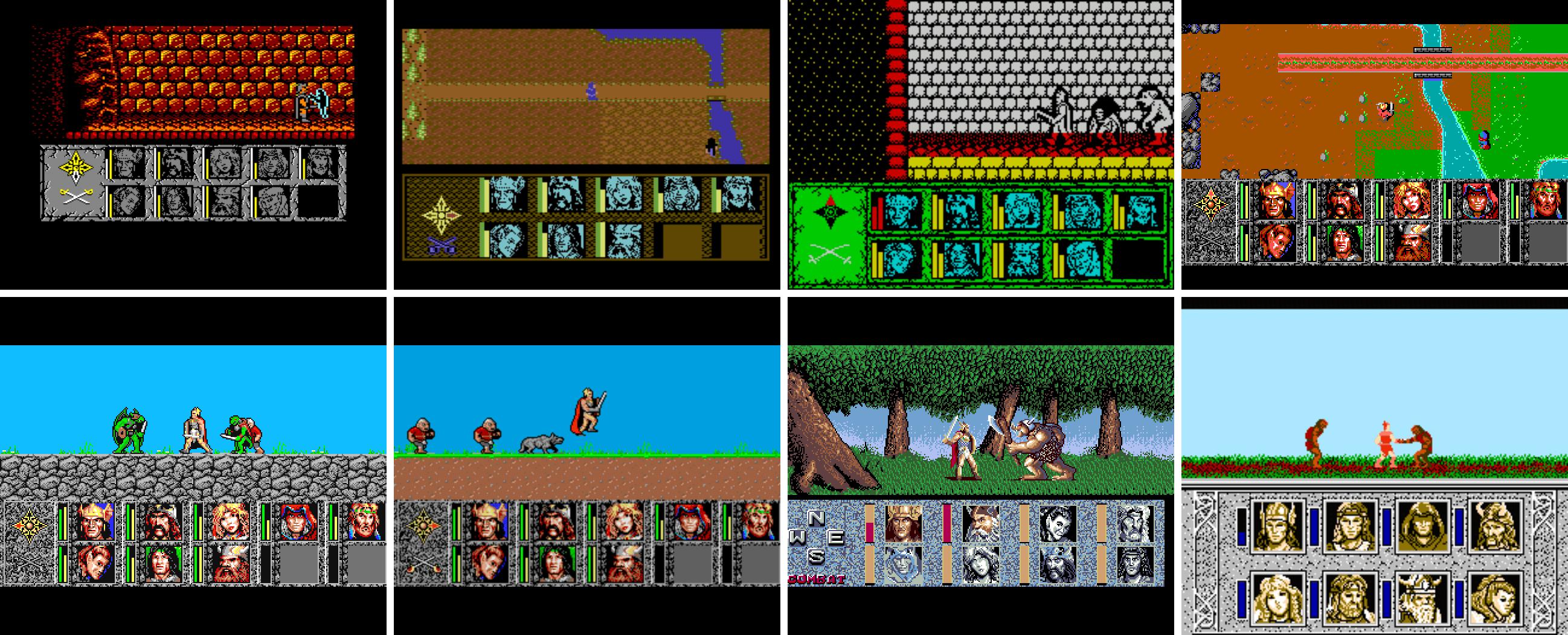 amstrad - c64 - spectrum - pc amiga - atari st - fm towns - nes