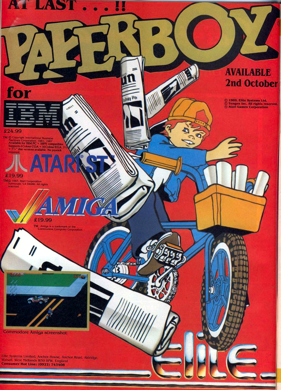 The object of Paperboy is to deliver papers to your customers while inflicting as much damage as possible to the houses of your non-customers. To make things more difficult, numerous obstacles get in your way including construction workers, rogue tires, skateboarders, dogs and cats, cars, and even the occasional tornado.