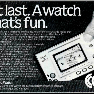 Nintendo Game & Watch - Video Game Advertisement From The Early 80's
