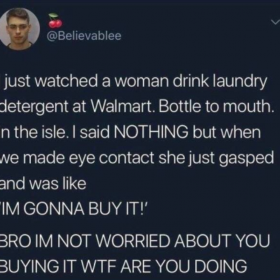 I'm not worried about you buying it!