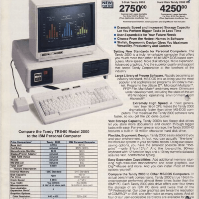 Image For Post Gaming Rig 1984 - Tandy TRS-80 Model 2000