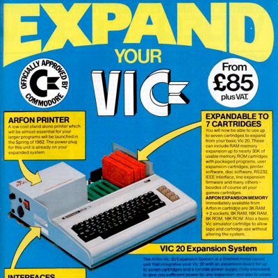 Image For Post Commodore Vic 20: Expansions - Video Game Advertisement From The Early 80's