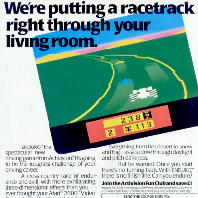 Image For Post Enduro - Video Game From The Early 80's