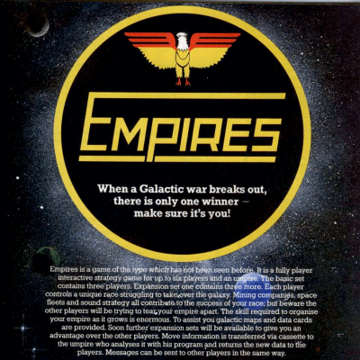 Empires - Video Game From The Early 80's