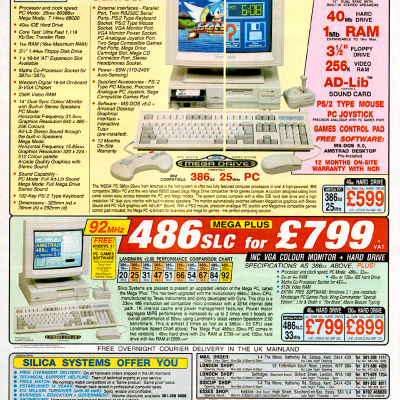 Image For Post Amstrad Mega PC (Sega Genesis PC Combo) - Advertisement From The Early 90's
