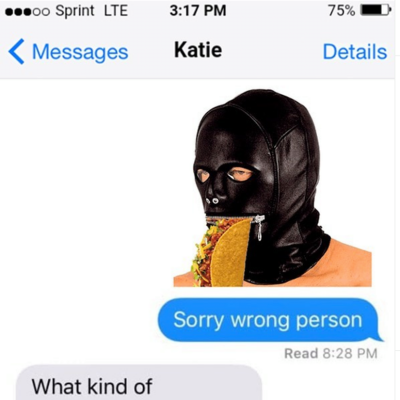 Sorry wrong person