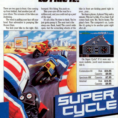 Image For Post Super Cycle - Video Game From The Mid 80's