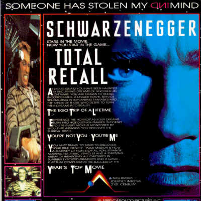 Image For Post Total Recall - Video Game From The Early 90's