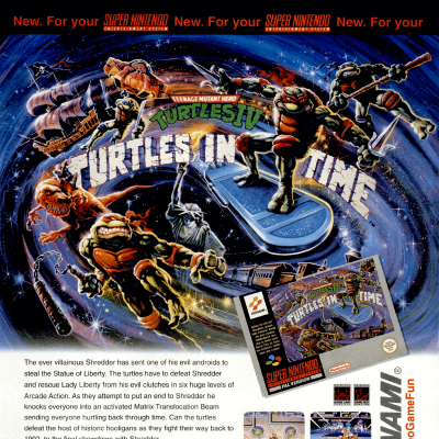 Image For Post Teenage Mutant Ninja Turtles 4: Turtles in Time - Video Game From The Early 90's