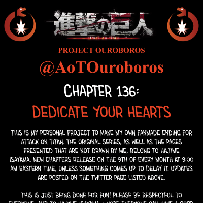Image For Post Attack on Titan Project Ouroboros: Chapter 136 - Dedicate Your Hearts