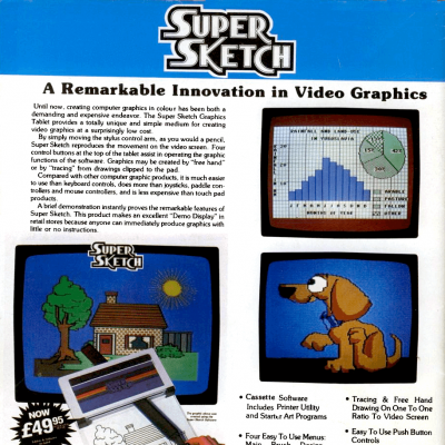 Image For Post Super Sketch Tablet - Advertisement From The Mid 80's