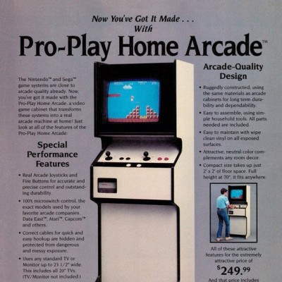 Image For Post Pro-Play Home Arcade - Home Console Arcade Cabinet From The 80's