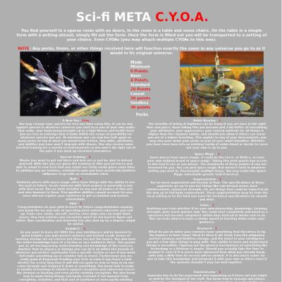 Image For Post Sci-Fi Meta CYOA Update
