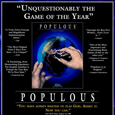 Image For Post Populous- Video Game From The Early 90's