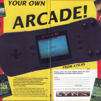 Atari Lynx - Video Game Console From The Early 90's