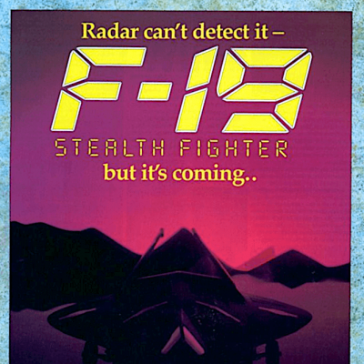 F-19 Stealth Fighter - Video Game From The Early 90's