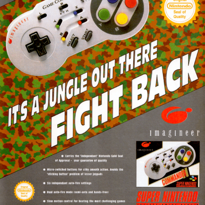 Image For Post Imagineer Game Commander 2 - SNES Controller | Advertisement From Gaming Magazine From The Early 90's