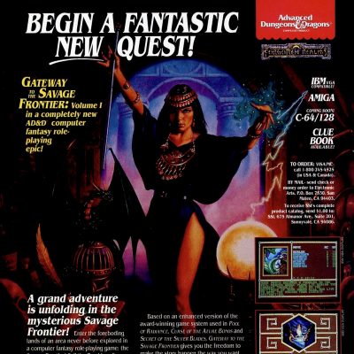 Image For Post Advanced Dungeons and Dragons: Gateway to the Savage Frontier - Video Game From The Early 90's