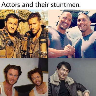 Image For Post Actors and their stuntmen...