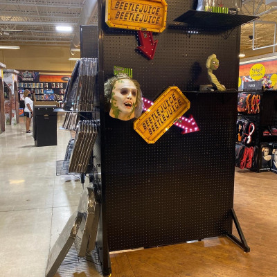 Image For Post I found the Beetlejuice section at Spirit Halloween.