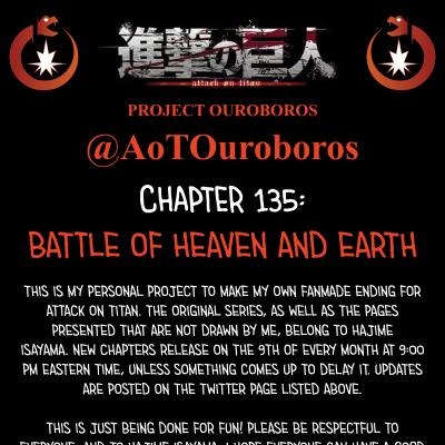 Image For Post Attack on Titan Project Ouroboros: Chapter 135 - Battle of Heaven and Earth