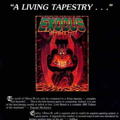 Image For Post Ultima 3: Exodus -Video Game From The Early 80's