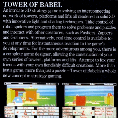 Image For Post Tower of Babel - Video Game From The Mid 80's