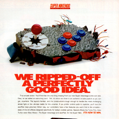 Image For Post Super Advantage Arcade Stick & AsciiPad Controller - Video Game Accessory From The Early 90's