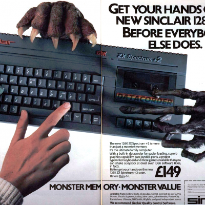 Sinclair ZX Spectrum+2 (128K) - Advertisement From Video Game Magazine In The Mid 80's