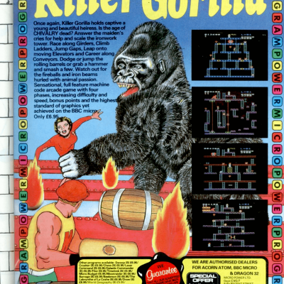 Killer Gorilla - Video Game From The Early 80's