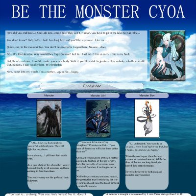Be the Monster CYOA