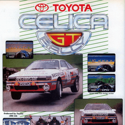 Toyota Celica GT Rally - Video Game From The Early 90's