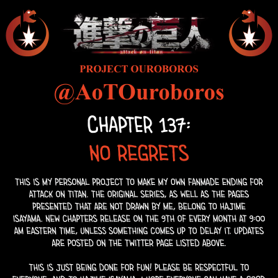 Image For Post Attack on Titan Project Ouroboros: Chapter 137 - No Regrets