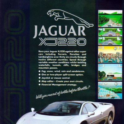 Jaguar XJ220 - Video Game From The Early 90's