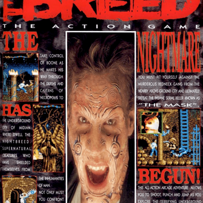 Image For Post | This is the first of a planned trilogy of games based on Clive Barker's movie Nightbreed (the second game was Nightbreed: The Interactive Movie - https://imgchest.com/p/gm9yxr6yqna - and the third game was never released).   This is a side-scrolling action game where Boone must fight his way through Midian, fighting the Sons of the Free and the Berserkers.