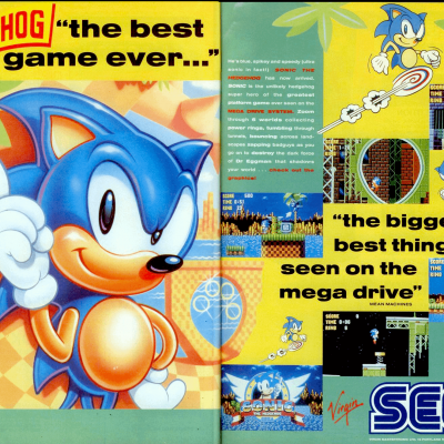 Sonic The Hedgehog - Video Game From The Early 90's