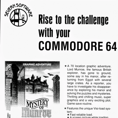 Mystery of Munroe Manor/The Case of the Mad Mummy - Video Game From The Early 80's