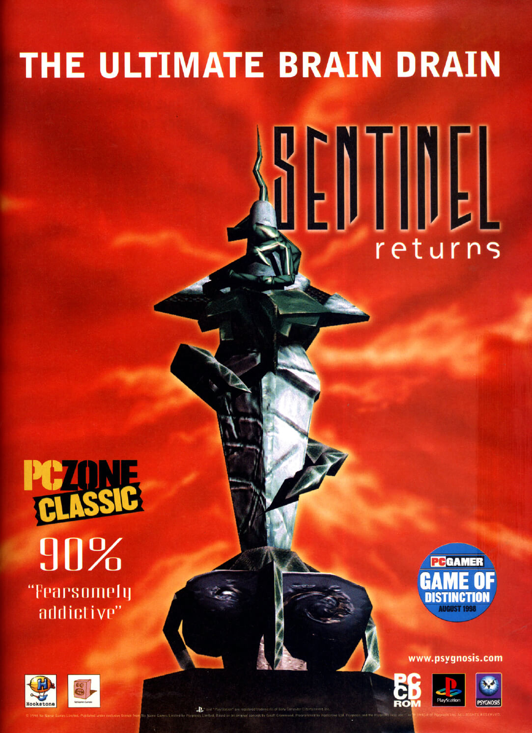 """Sentinel Returns is based on the game Sentinel https://imgchest.com/p/6pg73ployrn , a classic 8-bit micro game written by legendary Geoff Crammond (REVS, Grand Prix), which was initially released for the BBC microcomputer.   **Gameplay**   The gameplay is virtually unchanged in this sequel, though modern hardware definitely adds some spice and speed to the highly original and surreal concept.  Enter a surreal world where you must battle the Sentinel and his sentries over 650 checkered, 3D landscapes. Energy and movement are completely redefined in this unique blend of arcade and strategy elements. You, only known as an intelligent presence, move about the landscape by teleporting between robot """"hulls"""".   Any object in your field of vision can be absorbed for energy, as long as you also see the square of the landscape that the object is standing on. By aiming at any square your can see, and spending energy, you can create a new robot hull and teleport your presence to it, or you can create neutral objects: trees to block yourself from the Sentinel's gaze, or boulders that can be stacked.   You gain height in the landscape by creating a robot on top of a stack of boulders, until you can see the Sentinel's square at the highest point in the landscape and absorb him. The problem is that the Sentinel slowly rotates and ruthlessly absorbs anything in his field of vision that is more potent than a tree, including yourself. In later levels, his sentries will threaten you with absorption from several directions.   """"Sentinel"""" and """"Sentinel Returns"""" are games you either love or hate, due to their uniqueness and surreal nature."""